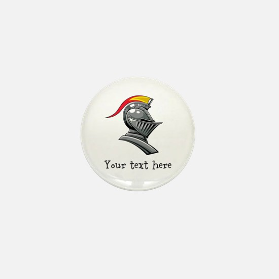 Customizable Knights Helmet Mini Button