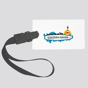 Eastern Shore MD - Surf Design. Large Luggage Tag