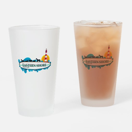Eastern Shore MD - Surf Design. Drinking Glass