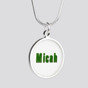 Micah Grass Silver Round Necklace