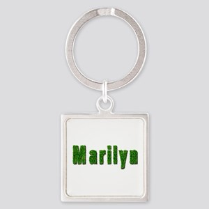 Marilyn Grass Square Keychain
