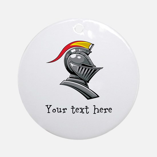 Customizable Knights Helmet Ornament (Round)