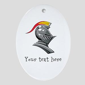 Customizable Knights Helmet Ornament (Oval)