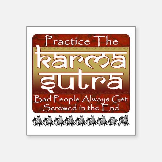 "Karma Sutra Square Sticker 3"" x 3"""