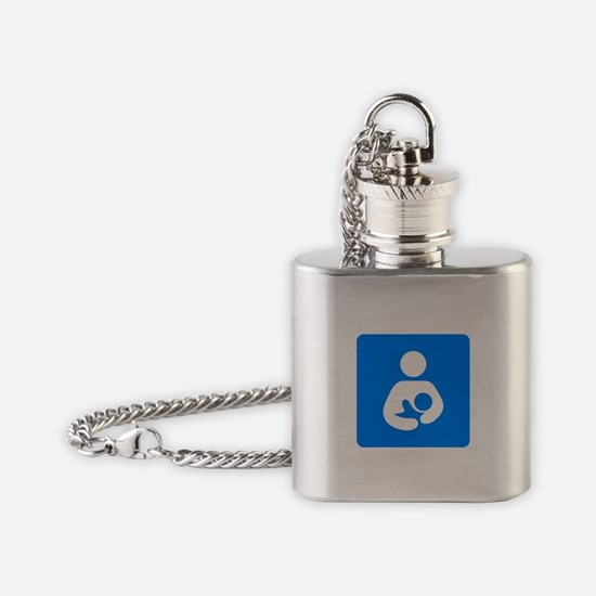 Funny Attachment parenting Flask Necklace