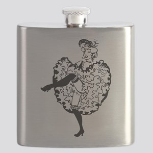 Cancan Dancer Flask