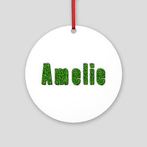 Amelie Grass Round Ornament