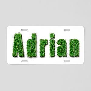 Adrian Grass Aluminum License Plate
