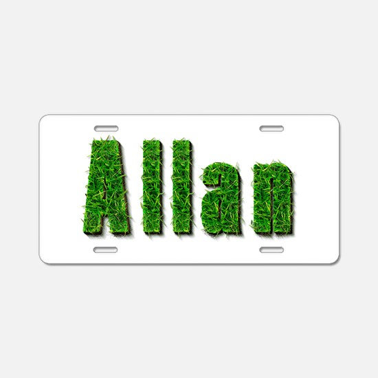 Allan Grass Aluminum License Plate
