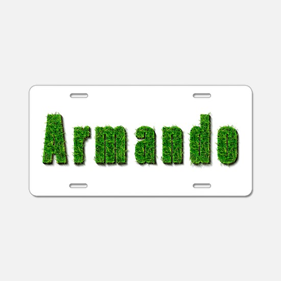 Armando Grass Aluminum License Plate