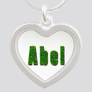 Abel Grass Silver Heart Necklace