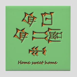 home sweet home/green Tile Coaster