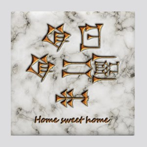 home sweet home/marble Tile Coaster