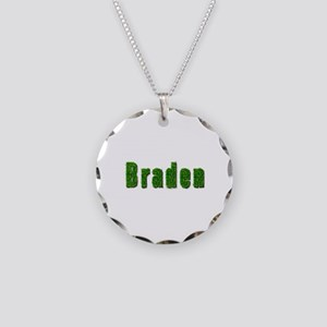 Braden Grass Necklace Circle Charm