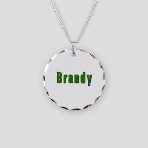 Brandy Grass Necklace Circle Charm