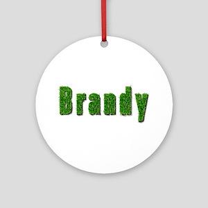 Brandy Grass Round Ornament