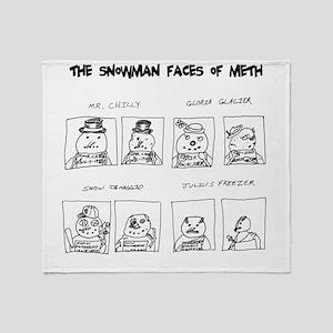 Snowman Meth Makeover Throw Blanket