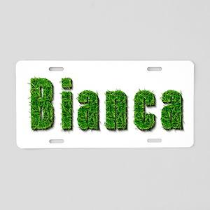 Bianca Grass Aluminum License Plate