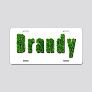 Brandy Grass Aluminum License Plate