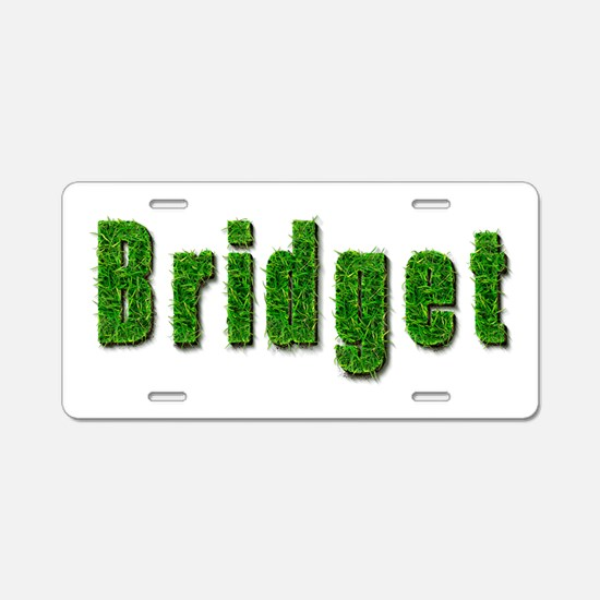 Bridget Grass Aluminum License Plate