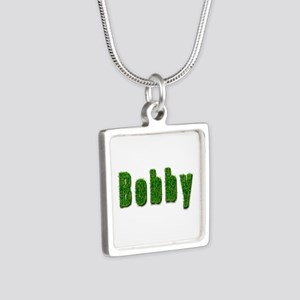 Bobby Grass Silver Square Necklace