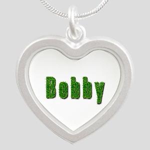 Bobby Grass Silver Heart Necklace