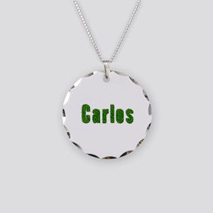 Carlos Grass Necklace Circle Charm