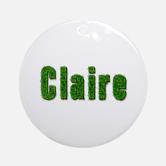 Claire Grass Round Ornament