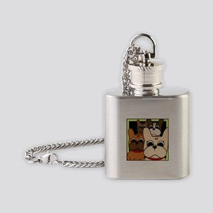 Frenchie Clan Flask Necklace
