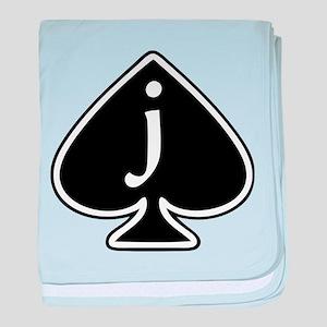 Jack Of Spades baby blanket