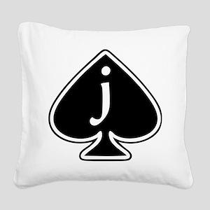 Jack Of Spades Square Canvas Pillow