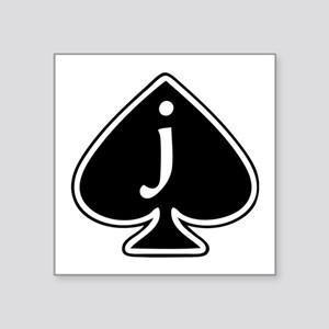"Jack Of Spades Square Sticker 3"" x 3"""
