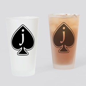 Jack Of Spades Drinking Glass