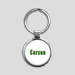 Carson Grass Round Keychain