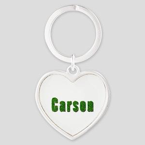 Carson Grass Heart Keychain