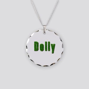 Dolly Grass Necklace Circle Charm