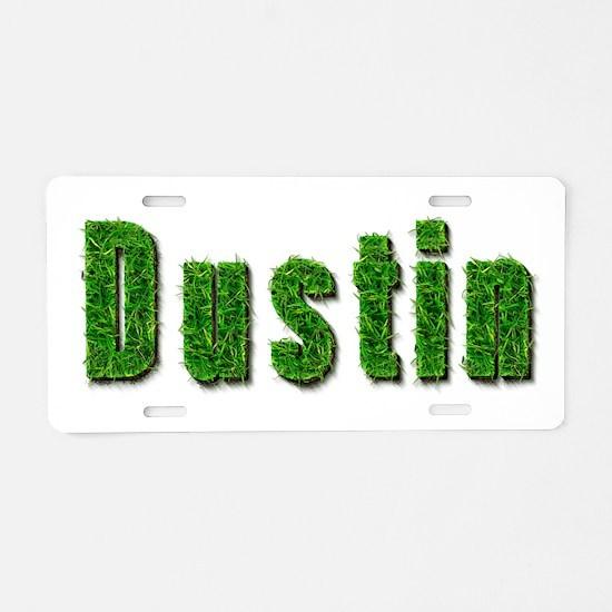 Dustin Grass Aluminum License Plate