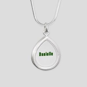 Danielle Grass Silver Teardrop Necklace
