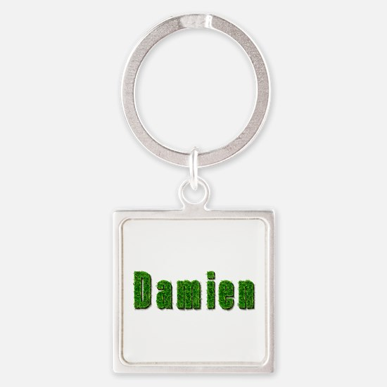 Damien Grass Square Keychain