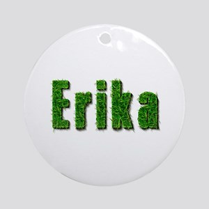 Erika Grass Round Ornament