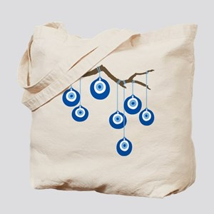 Blue Eye Amulets On Branch Tote Bag