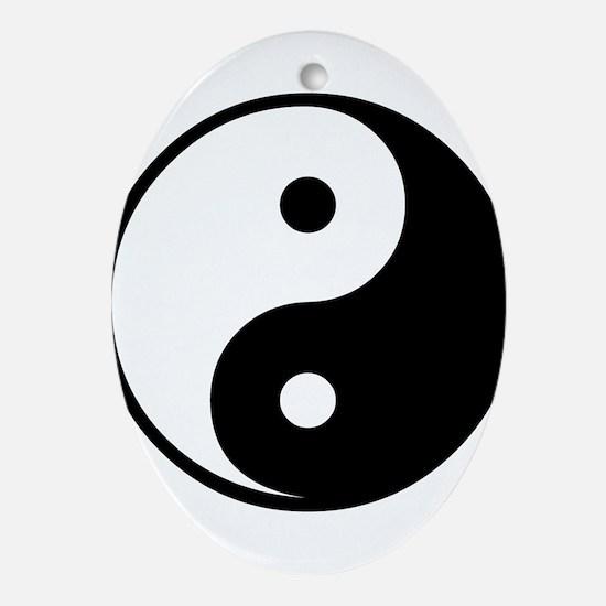 Yin Yang Symbol Ornament (Oval)