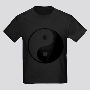 Yin Yang Symbol Kids Dark T-Shirt