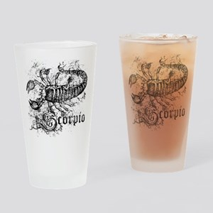 Worn Zodiac Scorpio Drinking Glass