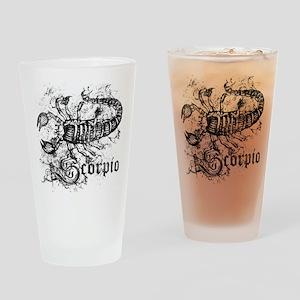 Worn Zodiac Scorpio Drinking Glass