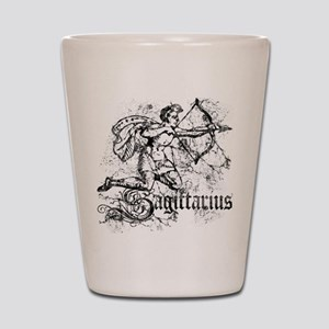 Worn Zodiac Sagittarius Shot Glass