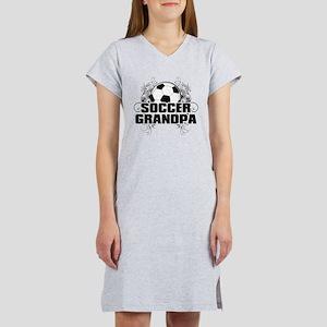 Soccer Grandpa (cross) Women's Nightshirt