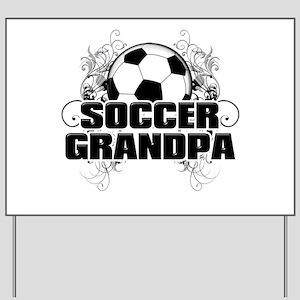 Soccer Grandpa (cross) Yard Sign