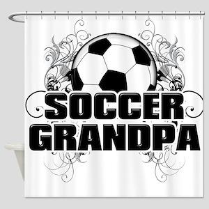 Soccer Grandpa (cross) Shower Curtain