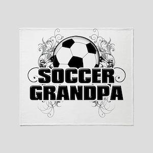 Soccer Grandpa (cross) Throw Blanket